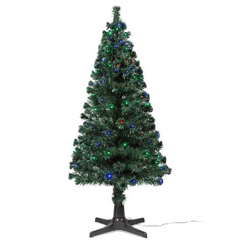 bq fibre optic christmas trees 6ft 6in rotating fibre optic led tree departments diy at b q