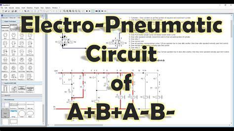 fluidsim mechatronics electro pneumatic circuit  ab