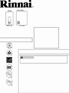 Download Rinnai Water Heater Rl94i Manual And User Guides