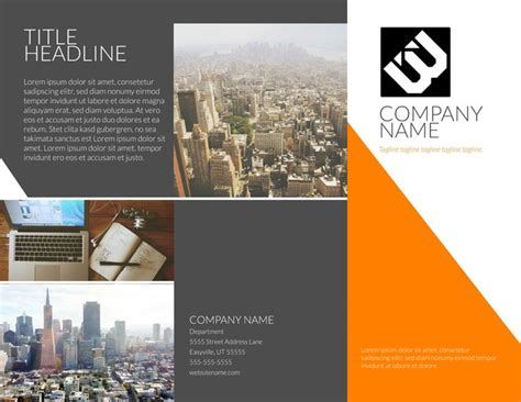 Free 4 Fold Brochure Template Best Sles Templates 440 Free Design Templates For Business Education