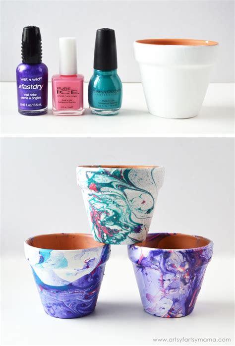 marbled flower pots artsy fartsy tutorials flower