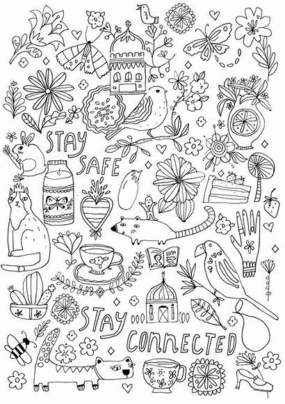 Coloring Pages Covid Magazine Flow Comforting Lewis