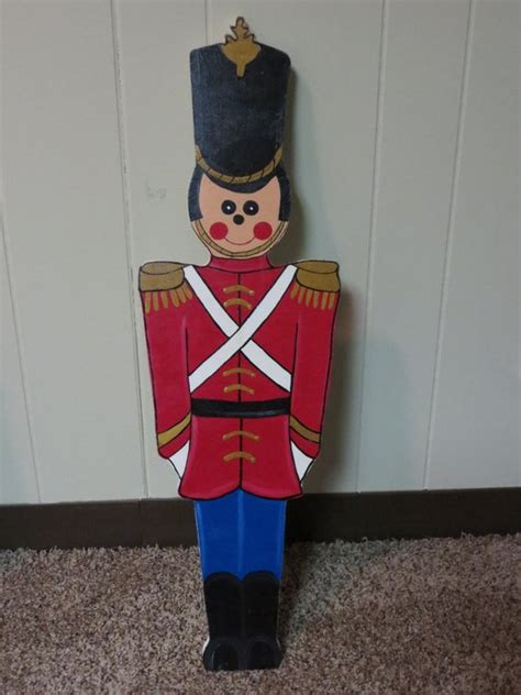 christmas outdoor toy soldier wood outdoor yard art