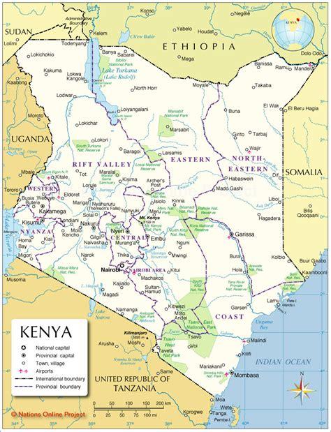 administrative map  kenya nations  project