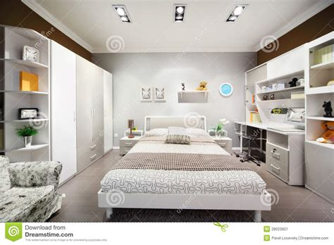 chambre brune chambre à coucher blanc brune élégante avec le bâti