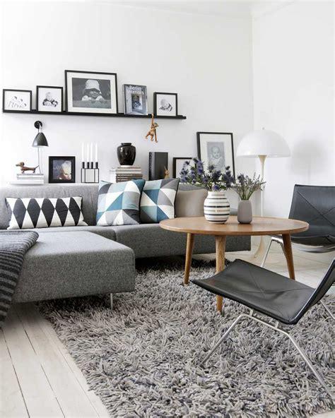 salon canapa noir daco bois deco salon style scandinave inspirations inspirations et