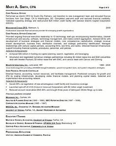 resume sample 18 cfo finance executive resume career With finance resume
