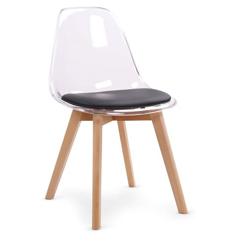 chaise design bois chaise design plexi et bois