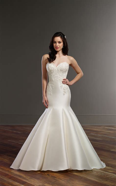 wedding gowns structured trumpet wedding dress martina