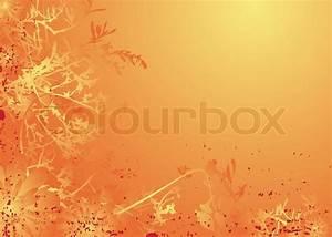 Verspielter Floraler Design Stil : retro stil natur hintergrund in orange mit einem floral design vektorgrafik colourbox ~ Watch28wear.com Haus und Dekorationen
