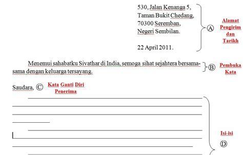 cikgu interaktif format karangan surat kiriman tidak rasmi