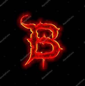 Gothic fire font - letter B — Stock Photo © silverkblack ...