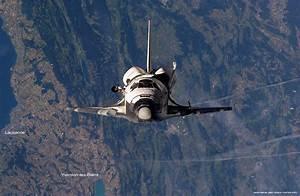 Shuttle Discovery over Switzerland | EPFL
