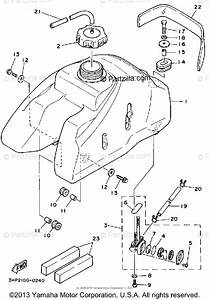 Yamaha Atv 1992 Oem Parts Diagram For Fuel Tank