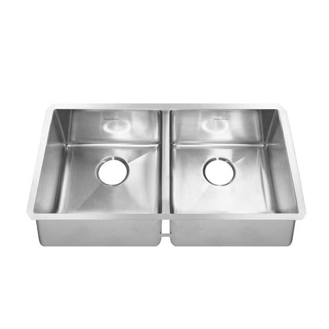 american standard undermount american standard pekoe undermount stainless steel 35 in