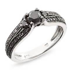 black wedding rings meaning black black rhodium plated engagement ring