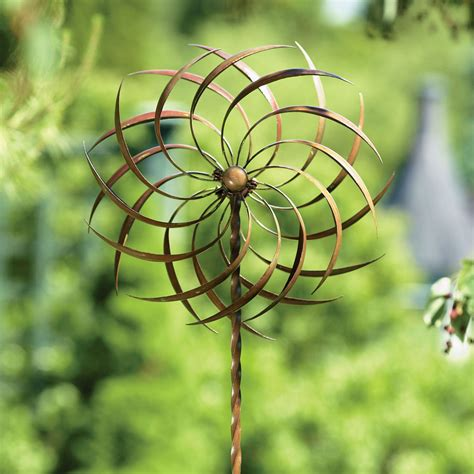 garden wind spinners pinwheel kinetic garden wind spinner with stake