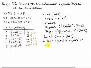 Summe Aufeinanderfolgender Zahlen Berechnen : die summe dreier aufeinander folgender zahlen youtube ~ Themetempest.com Abrechnung