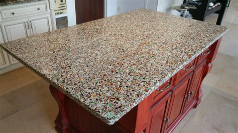 Made Countertops - recycled glass countertops styles advantages ideas