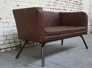 Canapé Style Industriel : canap cra 39 cu010 giani desmet meubles indus bois m tal et cuir ~ Teatrodelosmanantiales.com Idées de Décoration