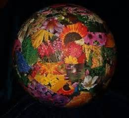 Decoupage Bowling Ball