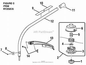Homelite Ry252cs 25cc String Trimmer Parts Diagram For
