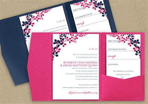 diy pocket wedding invitation template set instant