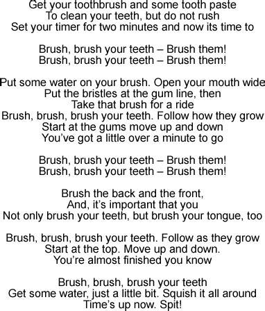 brush your teeth song lyrics and sound clip 407 | brushyourteeth