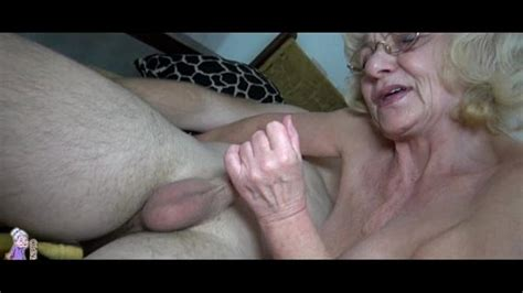 Grey Old Granny Likes Young Man