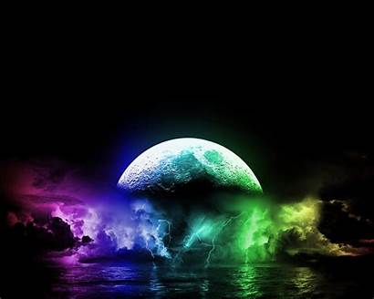 Cool 3d Wallpapers Really Very Colorful Moon