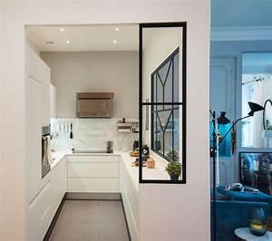 appartement lyon un haussmannien de 115 m2 qui invite au With cuisine avec verriere interieur