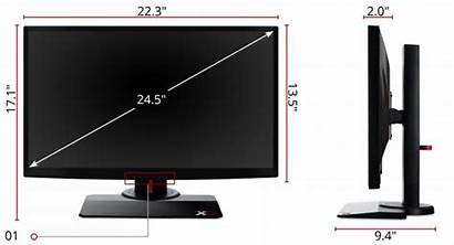 Viewsonic Monitor Xg2402 Gaming Dimensions Inch Mm