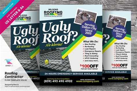 roofing contractor flyer vol flyer templates