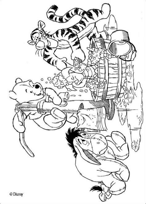 winnie  pooh coloring pages piglet   bath