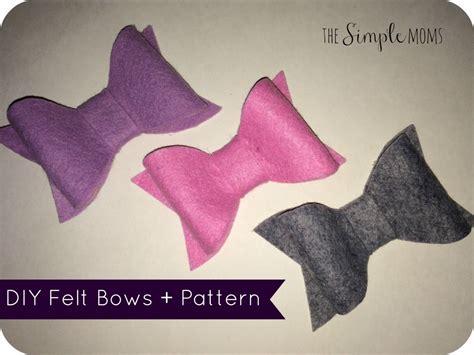 felt bow template diy felt bows printable pattern tutorial