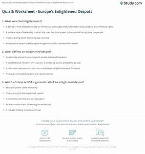 The Enlightenment In Europe Worksheet Answers