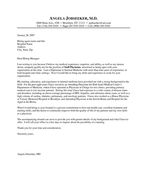examples  medical coverletters doctor cover letter