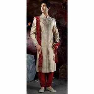 Tenue Blanche Homme : achat tenue indienne mari beige et rouge ~ Melissatoandfro.com Idées de Décoration