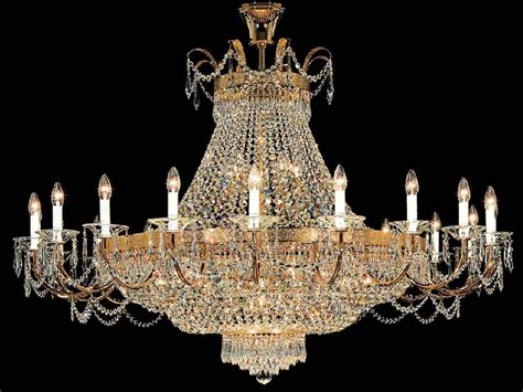 empire  light crystal chandelier kolarz lighting  p