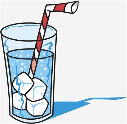 Drink Ice Clipart Water Glass Cold Vector