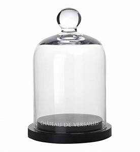Cloche En Verre Avec Socle : cloche en verre avec socle bois h16 5 x d11 cm made in paris en blanc galeries lafayette ~ Teatrodelosmanantiales.com Idées de Décoration