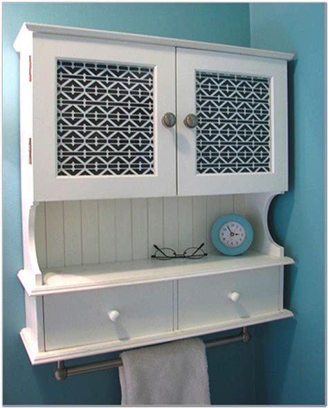 small bathroom wall cabinet  towel bar cabinet