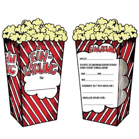einladungskarten kindergeburtstag ins kino geburstags