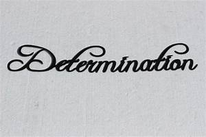 Determination Word Fancy Script Home Decor Metal Wall Art ...