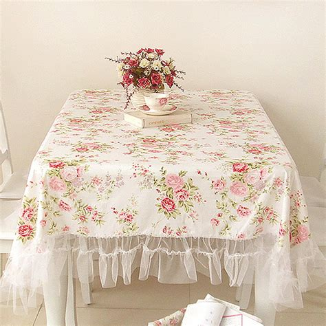 white oval tablecloth shabby chic tablelcoth 1055