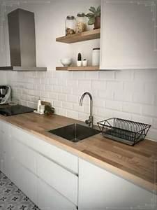Cocina, Moderna, Con, Muebles, Blancos