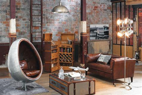 canapé cuir vintage pas cher style industriel ou style factory pour votre maison i