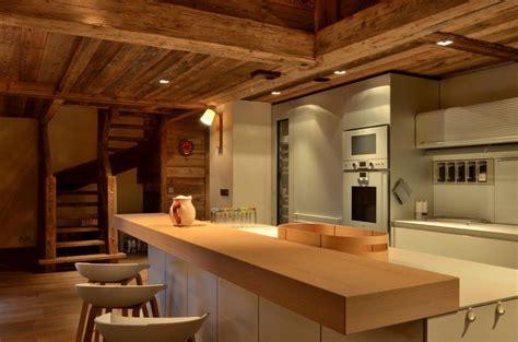 cuisine chalet moderne modern chalet interior design cosy neve design