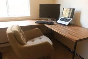schreibtisch selber bauen arbeitsplatte insideways diy custom desk
