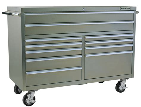 Stainless Steel Rolling Cabinet by Viper Tool Storage 60 Quot 11 Drawer Pro Series 304 Stainless